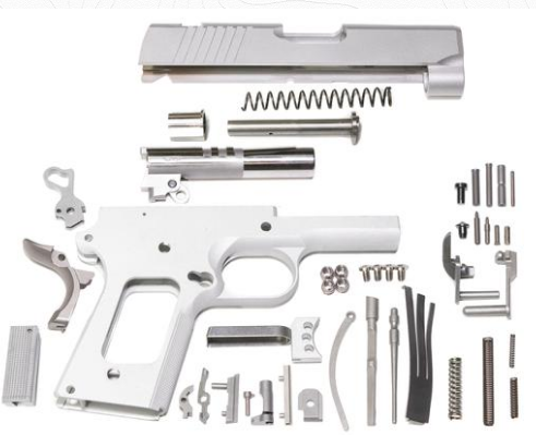 "Classic 1911 80% KIT 3.5"" 7075 ALUMINUM 45ACP/9MM"