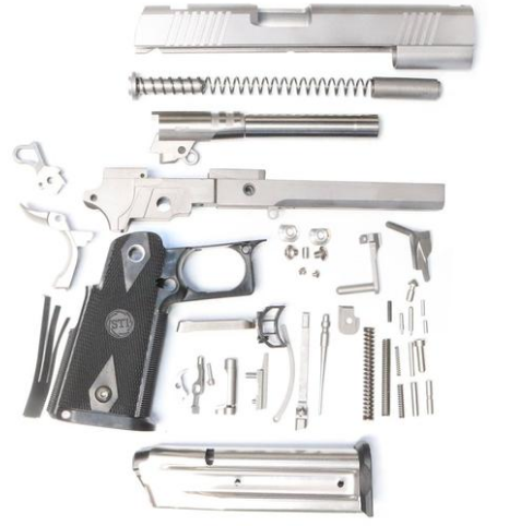 "Wide Body DOUBLE STACK 80% BUILD KIT 5"" 45 ACP RAMPED FORGED"