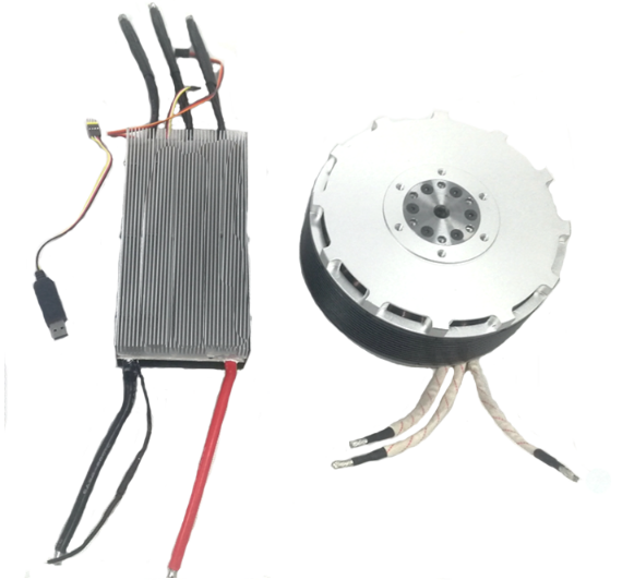 MP154120 90KW brushless Halbach Array motor